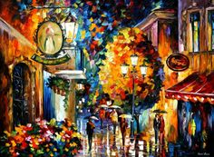 CAFE IN THE OLD CITY - LEONID AFREMOV by ~Leonidafremov on deviantART