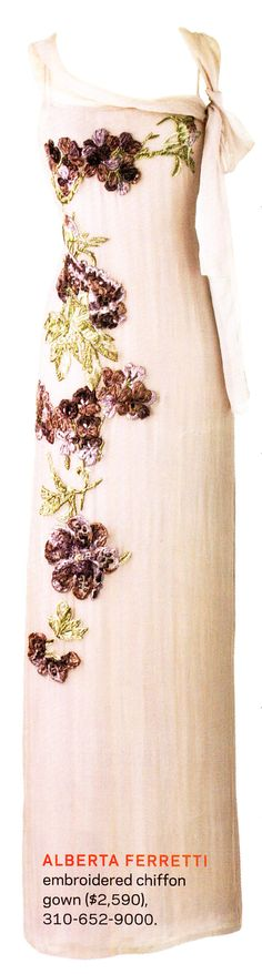 The dress Hannah wears to the Amethyst & Ice Ball