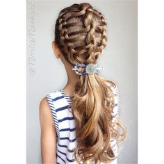 💎💙DNA Braid💙💎 💙Inspired by 💙 🔹Lilla Rose Flexi clip from 🔹 Braided Hairstyles, Cool Hairstyles, Aqua Hair, Hair Chalk, Wild Hair, Rose Hair, Hairstyles For School, Dna, Hair Inspiration