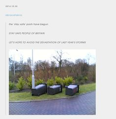When they remembered the lessons from the Great Storm of 2013. | 29 Times Tumblr Completely Got What It Means To Be British