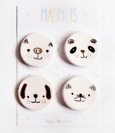 Fridge ceramic magnet - Refrigerator magnet - Animals magnet set - Ceramics & Pottery - Housewarming - Magnets - Kawaii decor magnets