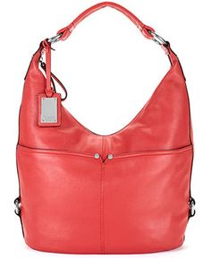 Tignanello Handbag Polished Pockets Leather Hobo Handbags Accessories Macy S