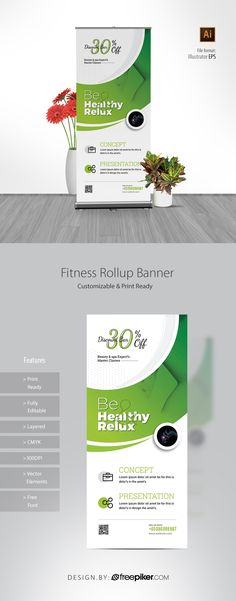 Health Relax & Spa Rollup Banner