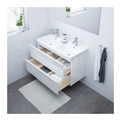 IKEA offers everything from living room furniture to mattresses and bedroom furniture so that you can design your life at home. Check out our furniture and home furnishings! White Vanity Bathroom, Ikea Bathroom, Bathroom Faucets, Bathroom Cabinets, Master Bathroom, Bamboo Bathroom, Ikea Vanity, Bathroom Canvas, Vanity Countertop