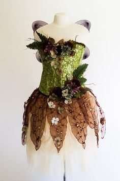 Image result for easy to make wood sprite costume