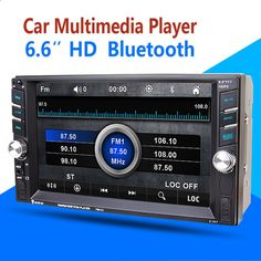 2DIN Car Multimedia Player 6.5 HD In Dash Car TouchScreen Bluetooth Stereo Radio FM MP3 MP5 Audio Video USB Reversing display