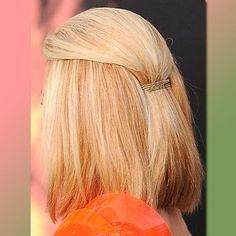 Simple idea to pin back straight mid-length bob