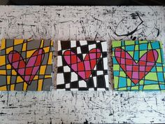 Jim Dine art Valentine lesson project line color contrast graphics elementary
