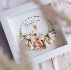 Flower Box Gift, Flower Boxes, Flower Frame, Dried And Pressed Flowers, Dried Flowers, Paper Flowers, Wedding Boxes, Wedding Frames, Wedding Gifts