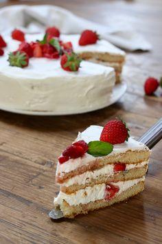 torta 5 minuti panna e fragole - creando si impara