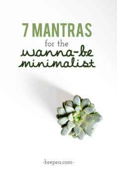 Looking to get into the minimalist lifestyle? Here are 7 mantras to help you dive in to minimalism without feeling overwhelmed.