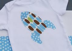 A cute onsie for a little boy. Boy clothes are hard to find/make and this is a perfect idea!
