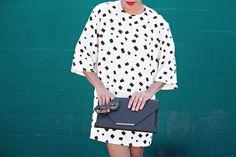bnkr » STYLE ME GRASIE #blackandwhite #dress #ootd #bcbg