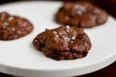 Salted Chocolate-Chocolate Chunk Cookies