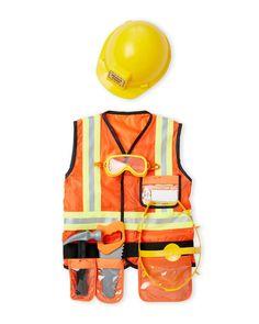 Melissa & Doug (Kids) 6-Piece Construction Worker Costume