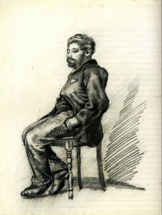 Seated Man with a Beard, Vincent van Gogh