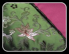 Olive Green Brocade Floral Eye Pillow for relaxation, meditation, yoga, sleep aid  FREE Ship to USA