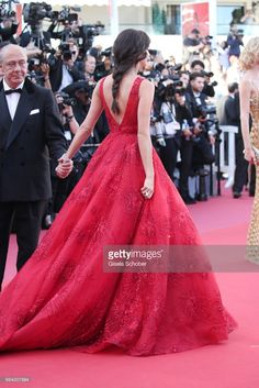 Sara Sampaio attends the 'Ismael's Ghosts (Les Fantomes d'Ismael)' screening and Opening Gala during the 70th annual Cannes Film Festival at Palais des Festivals on May 17, 2017 in Cannes, France.