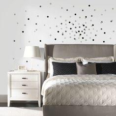 DIY polka dot confetti wall tutorial