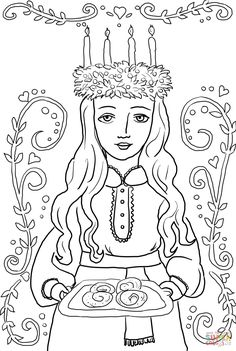 santa lucia coloring pages