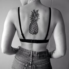 The perfect pineapple. | 36 Beautiful Tattoos For People Who Love Food