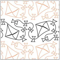 Kites quilting pantograph pattern by Lorien Quilting