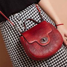 Genuine Leather Handmade Handbag Crossbody Bag Shoulder Bag - Lilly is Love Leather Crossbody Bag, Leather Purses, Leather Handbags, Satchel Handbags, Purses And Handbags, Bags For Teens, Handmade Handbags, Simple Bags, Cute Bags