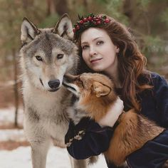 Olga Barantseva's mostly photo shoots aaare with animals and creative portraits. Her love for fairy tales has evolved into her magical world Magical Photography, Human Photography, People Photography, Family Photography, Photography Tips, Animals And Pets, Cute Animals, National Geographic Animals, Wolves And Women