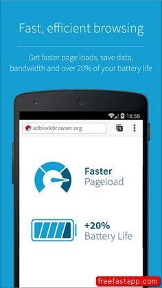 تحميل متصفح Adblock Browser بسرعة اكثر وتوفير للبطارية اندرويد وايفون  صورة للبرنامج