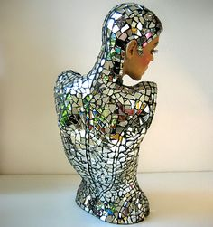 Mirror Mannequin by Sally Kendall Mosaics