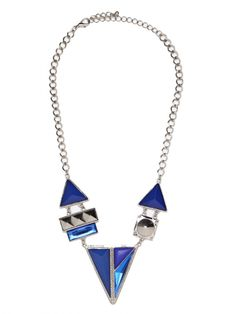 Our Blue Mondrian Bib... love the geometric shapes!