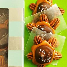 Salted Chocolate-Caramel Clusters From Better Homes and Gardens, ideas and improvement projects for your home and garden plus recipes and entertaining ideas.