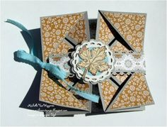 Spice Cake Napkin Fold Card (Closed) by michvan3 - Cards and Paper Crafts at Splitcoaststampers