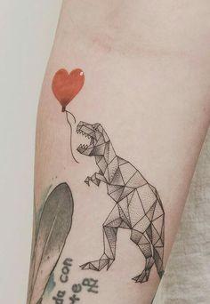Geometric dinosaur. I love it! ♡