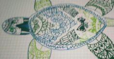 Hola, hoy he hecho este dibujo de una tortuga marina y creo pué es bonito.🐢🐢👍