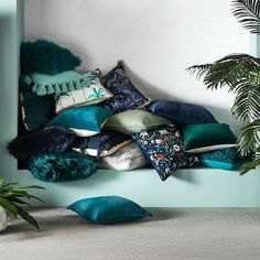 Belgian Vintage Washed Linen Teal Cushion