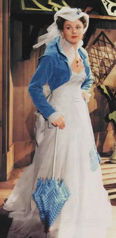 "Vivien Leigh as Scarlett O'Hara, wearing my favorite dress of the movie. ""Gone with the wind / Lo que el viento se llevó"" (1939)"