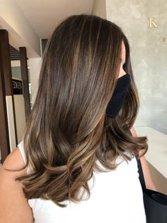 Brown Hair Balayage, Balayage Brunette, Hair Color Balayage, Brunette Hair, Hair Highlights, Hair Color For Black Hair, Dark Hair, Honey Hair, Hair Inspiration