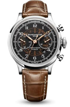 Discover the Capeland 10068 automatic chronograph watch for men, designed by Baume et Mercier, Swiss Watch Maker.
