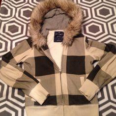 American Eagle jacket American Eagle, fur hood, size S American Eagle Outfitters Jackets & Coats Utility Jackets