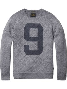 Semi-Quilted Pullover | Pullover | Men Clothing at Scotch & Soda