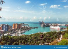 Malaga City View From Top Of Fortless Alcazaba Editorial Stock Photo - Image of landscape, history: 158578428 September Pictures, Malaga City, Pictures For Sale, Landscaping Images, Andalucia, Costa, Cathedral, Spain, Skyline