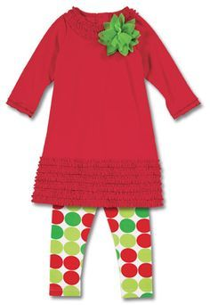 Love this dress and leggings for the girls for Christmas!