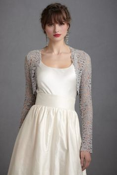 Long Sleeve Lace Wedding Gown Cover Up