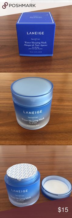 Laneige water sleeping mask Overnight mask that absorbs into skin while you sleep. Leaves skin super soft and hydrated! Brand new, not opened. laneige Other
