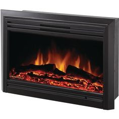 Dimplex Convex Black Wall Mount Electric Fireplace Just
