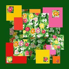 'Flower Pattern Art Quilt I' - http://irina-sztukowski.artistwebsites.com/featured/flower-pattern-art-quilt-i-irina-sztukowski.html