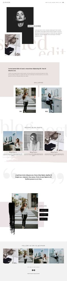 10 Modern Edgy Squarespace Web Designs by Big Cat Creative