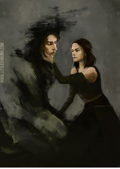 Kylo Ren and Rey from Star Wars: The Last Jedi