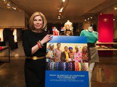 Christine Baranski supporting Same Sky and International Women's Day at DKNY.